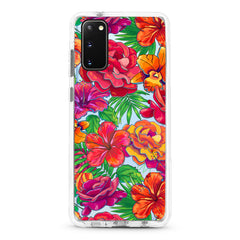 Samsung Ultra-Aseismic Case - Scarlet Red Floral