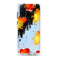 Samsung Ultra-Aseismic Case - Abstract Fire Water Paint