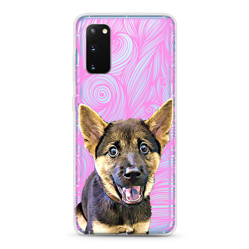 Samsung Aseismic Case - Pink Waves with Hand Painting