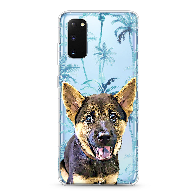 Samsung Aseismic Case - Blue Hawaii Palm