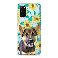 Samsung Aseismic Case - Sun Flower Tropical Water Paint