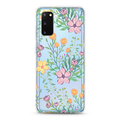Samsung Aseismic Case - Seamless Tropical Pastel Colors Flower Pattern