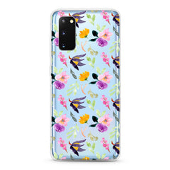 Samsung Aseismic Case - Purple Botanicals