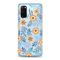 Samsung Aseismic Case - Orange Floral