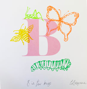 Letter B for Bugs original artwork