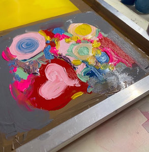 Screenprinting and Gelee printing. 1.30-4pm, April 9th, 2021. Age 9 up.