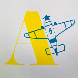 Letter A original artwork