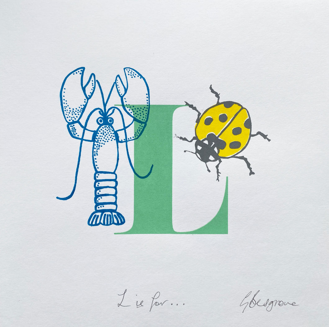 Letter L original artwork
