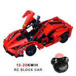 Technic Block Building Roadster RC Car | Top Speed 15km/h
