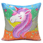 Sequin Unicorn Cushion