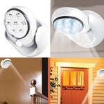 LightPro™ LED Cordless Motion Activated Sensor (360 Degree Rotation) Lamp