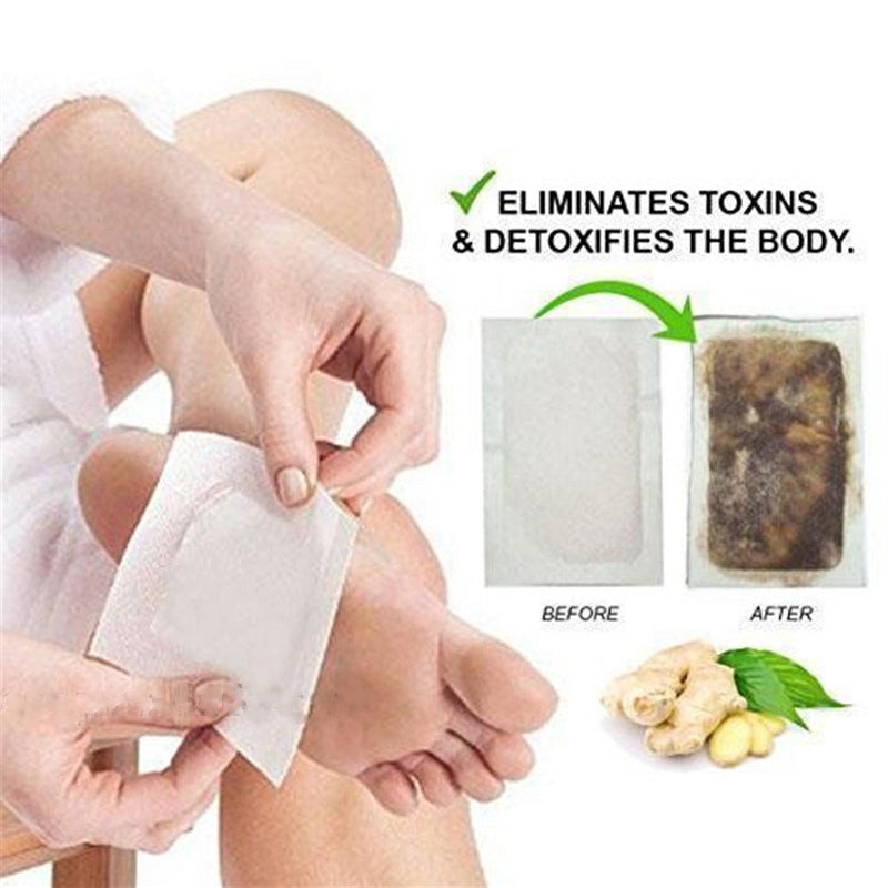 Ginger Detox Foot Pads (10 Pads Per Set)