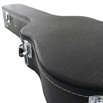 Marquez 39 inch Black Hard Guitar Case with Silver Locks