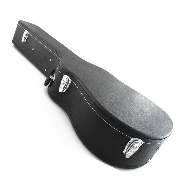 Marquez 41 inch Black Hard Guitar Case with Silver Locks