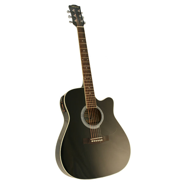 Marquez MD150-EC Steel String Electric Acoustic Guitar - BLACK  - Xmas Special