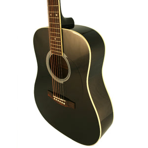 Marquez MD100 Black Full Size Steel String Acoustic Guitar - Black