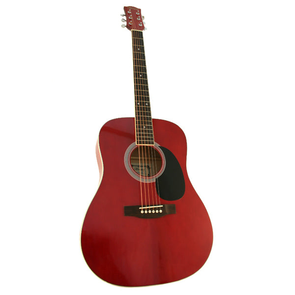 Marquez MD100 Full Size Steel String Acoustic Guitar - RED