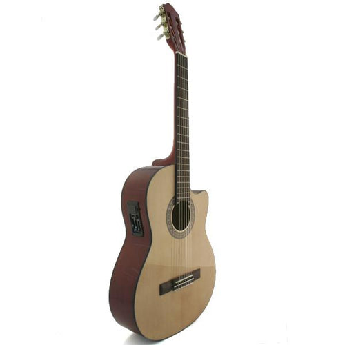 Marquez MC300-EC (C3EC) Nylon String Electric/Cutaway Acoustic Guitar - Natural