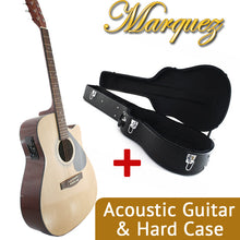 MD150 Natural Electric Acoustic Guitar + Hard Case Bundle