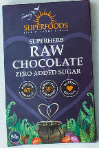 Organic Raw Chocolate Zero Added Sugar 50g [Superfoods]
