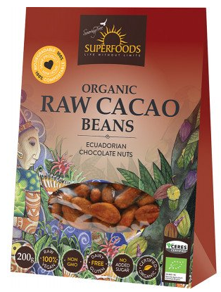 Organic Raw Cacao Beans 200g [Superfoods]