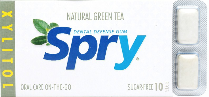 Spry Green Tea Chewing Gum 10 Pieces [Spry]