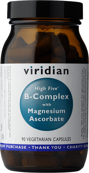 High Five B-Complex with Magnesium Ascorbate 90 Caps [Viridian]