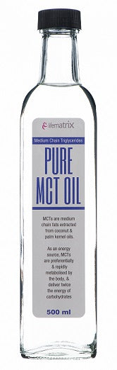 Unflavoured Pure MCT Oil 500ml [Lifematrix]