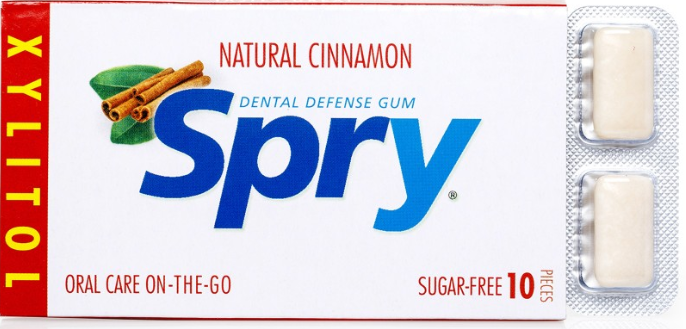 Spry Natural Cinnamon Chewing Gum 10 pieces [Spry]