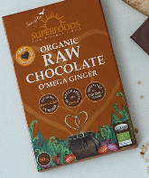 Organic Raw Chocolate O'mega Ginger 50g [Superfoods]