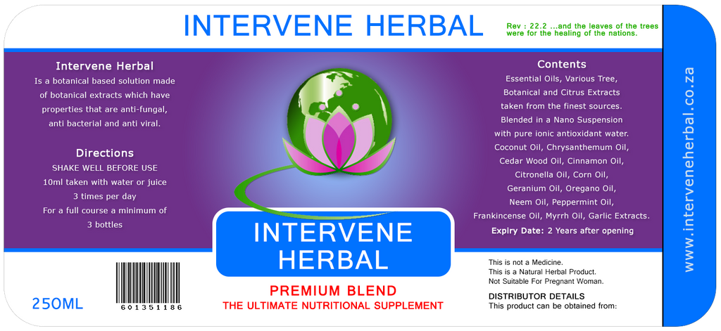 Intervene Herbal Premium Blend 250ml [Intervene]