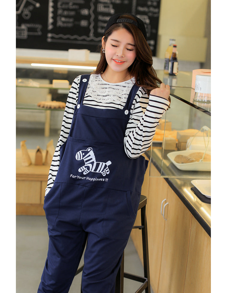 C13  افرول حمل   Spring and Summer Maternity  Overalls