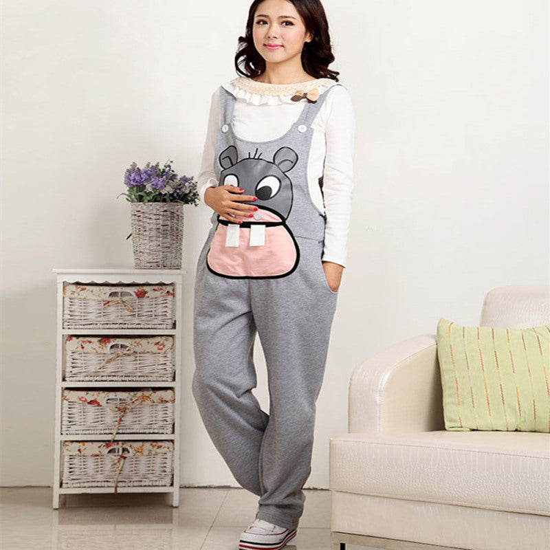 C13  افرول حمل   Maternity Pants Long Pregnancy Clothes For Pregnant Women Overalls