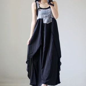 B13 فستان شيفون حمل  Summer  Sleeveless Patchwork Casual Dress Clothes for Pregnant Woman