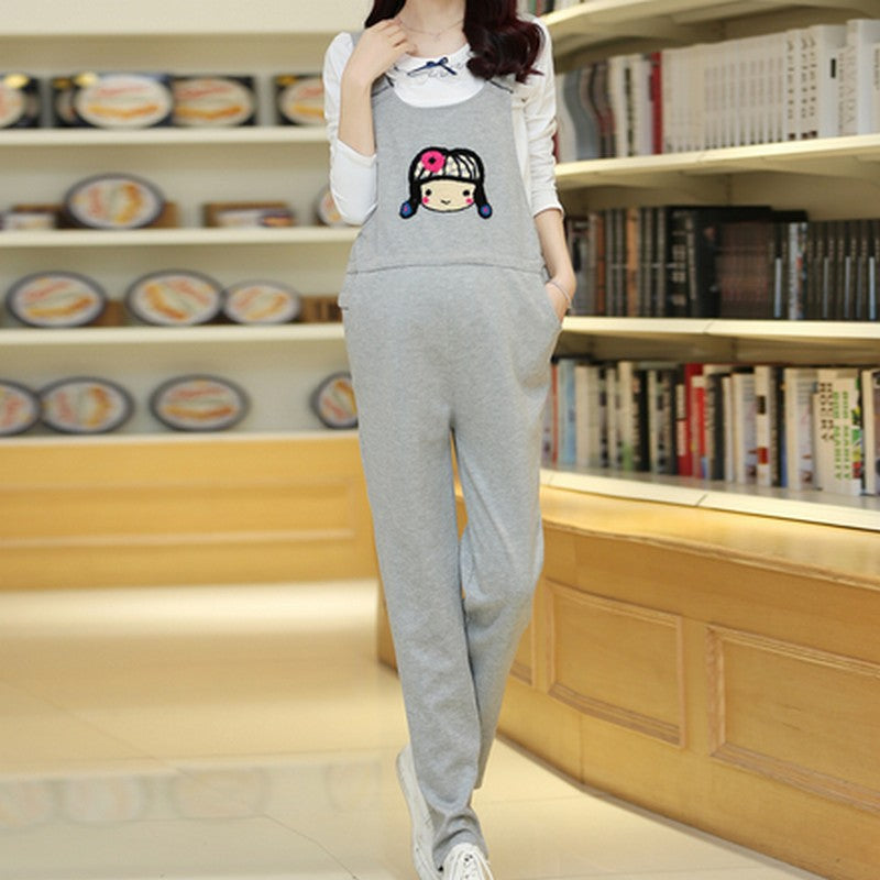 C13  افرول حمل   Jumpsuit Maternity Pants For Pregnant Women Overalls