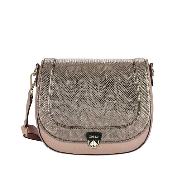 Taschenkörper Best Buddy in nude mit Wechselklappe Moonlight Drive in dark silver metallic