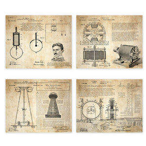 Nikola Tesla Posters (Set Of 4)