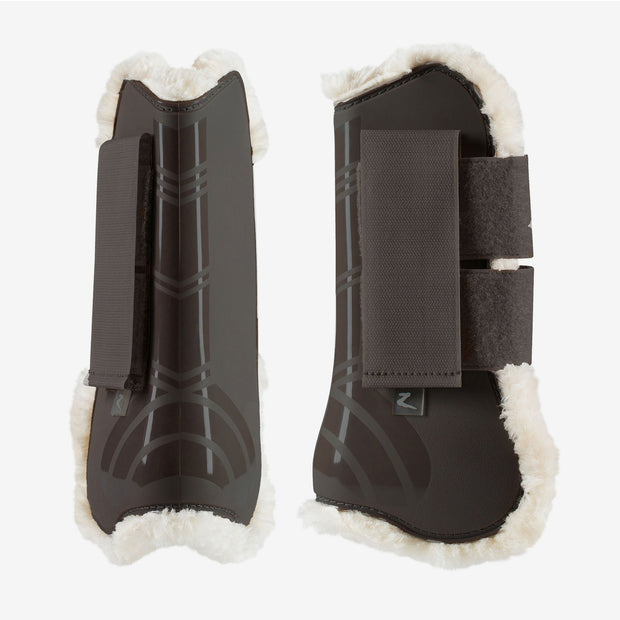 Caliber Faux-Fur Boot Set - Brown, Full