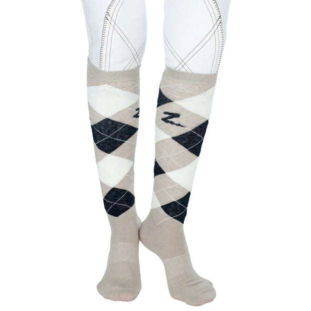 Argyle Preppy Coolmax Socks - Grey