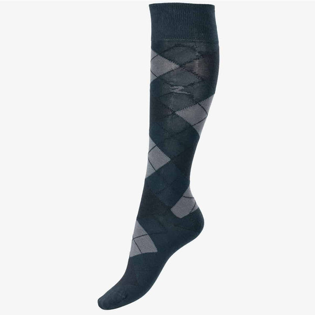 Alana Argyle Summer Socks - Dark Blue