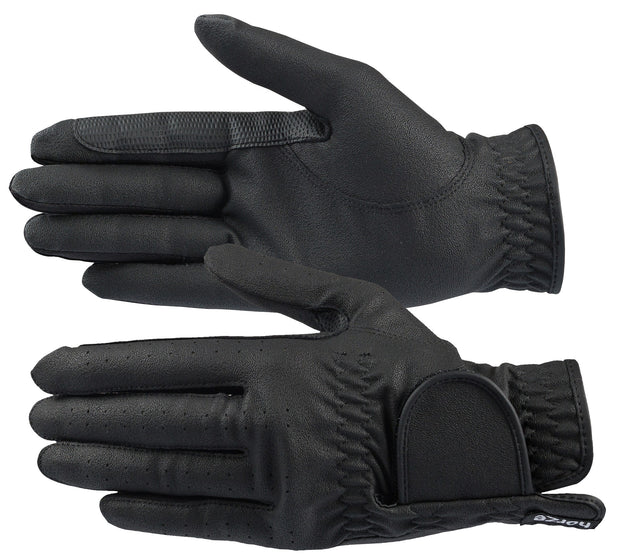 Eleanor Synthetic Leather Gloves - Black