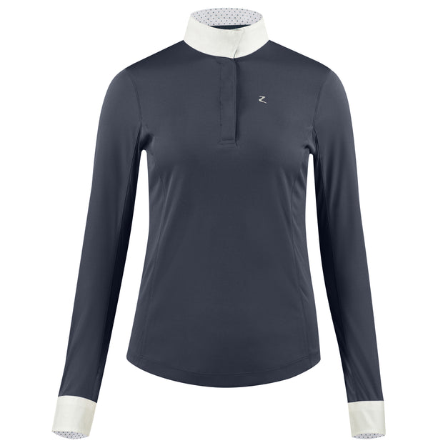 Blaire Long-Sleeved Competition Shirt - Navy