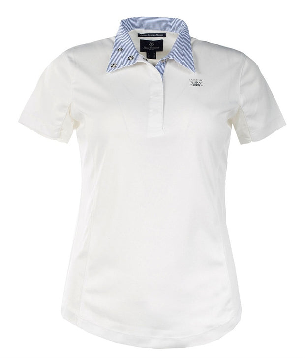 Blaire Short-Sleeved Competition Shirt - White