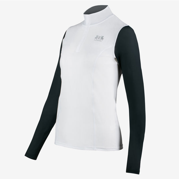 B Vertigo Iris Women's Long Sleeve Shirt - White
