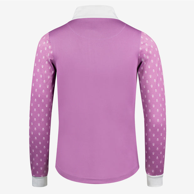 Paige Kids Long Sleeve Show Shirt - Violet