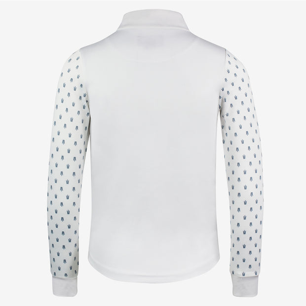 Paige Kids Long Sleeve Show Shirt - White