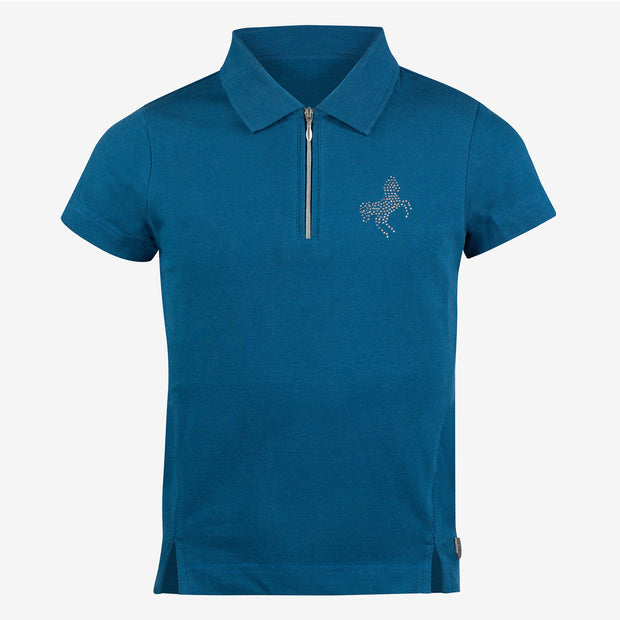 Janika Kids Short Sleeve Polo Shirt - Steller Blue