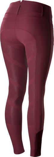 B Vertigo Tiffany High Waist Silicone FS Breeches - Burgundy