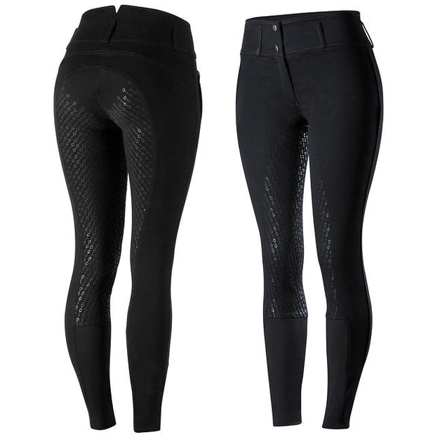 Daniela Womens Full Seat Silicon Breeches - Black