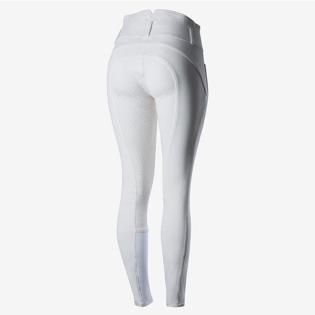 Daniela Womens Full Seat Silicon Breeches - White